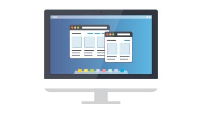 オリジナルデザイン 専属のウェブデザイナーによる完全オリジナルデザイン。納品時から5ページ作成済みなのでコーポレートサイトや商品サイト、店舗サイトも十分に制作可能です。